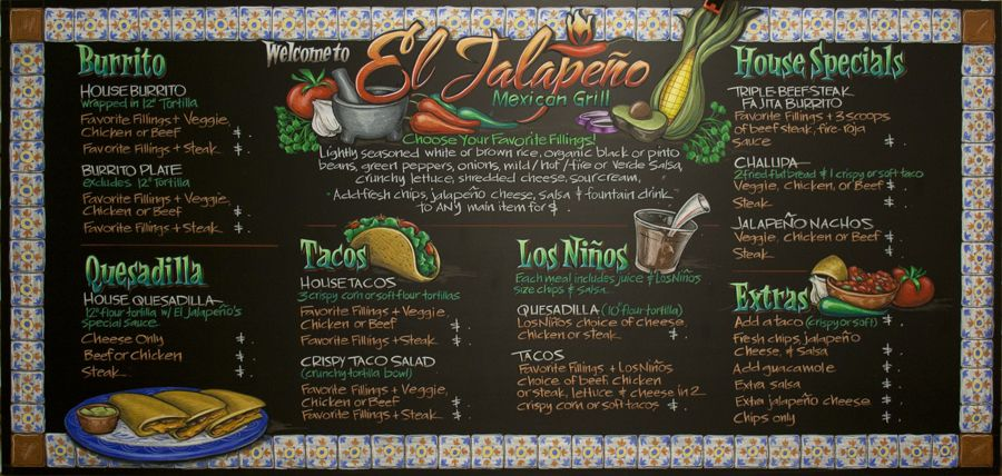 The Art Of Chalkboard Artistry  Chalkboards Menu And Menu Boards