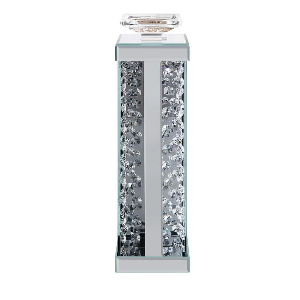 Acme Furniture Nysa Mirrored and Faux Crystals Accent