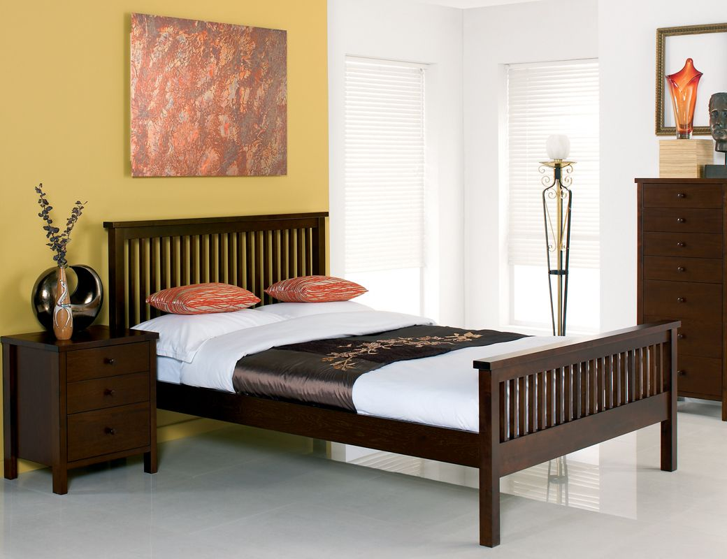 atlanta dark wood bed frame king 299 bedframescouk