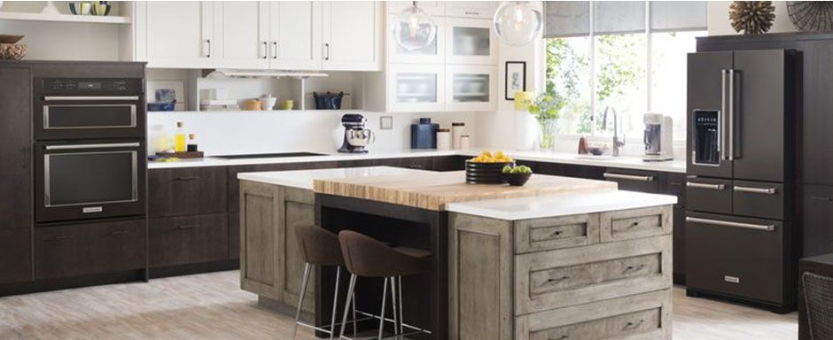 Genial KitchenAid Black Stainless Kitchen Suite Black Matte Appliances Instead Of  Stainless Steel?! Yes Please! Oh, And Those Cabinet Colors Are Perfection  ...