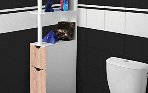 ProBache – Meuble WC étag¨re bois gain de place pour toilette 2