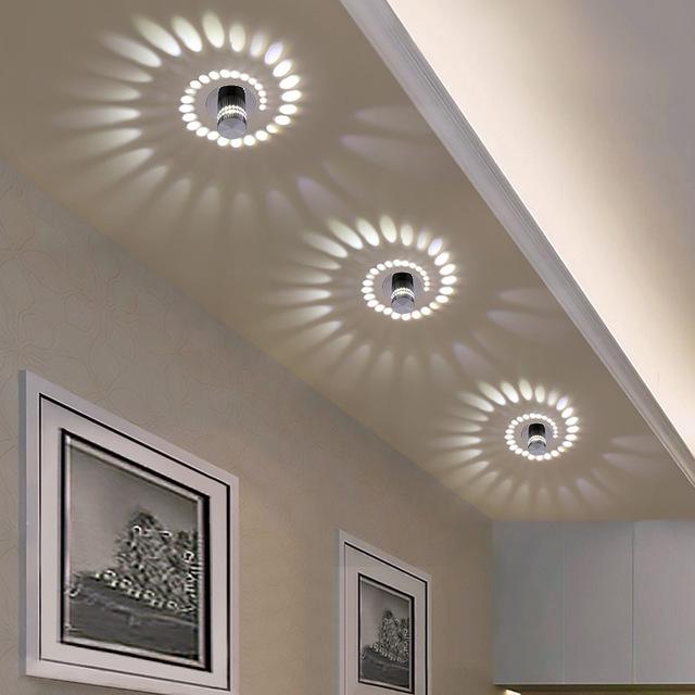 LED Wall Lamp Effect Light Wall Lamp Hallway Lamp Ceiling Decor Remote Control DE