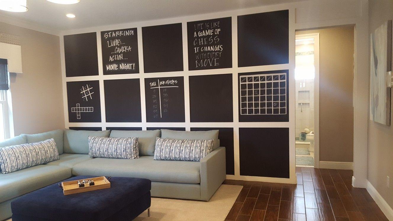 Chalkboard wall in gameroom   Game room, Chalkboard wall ...