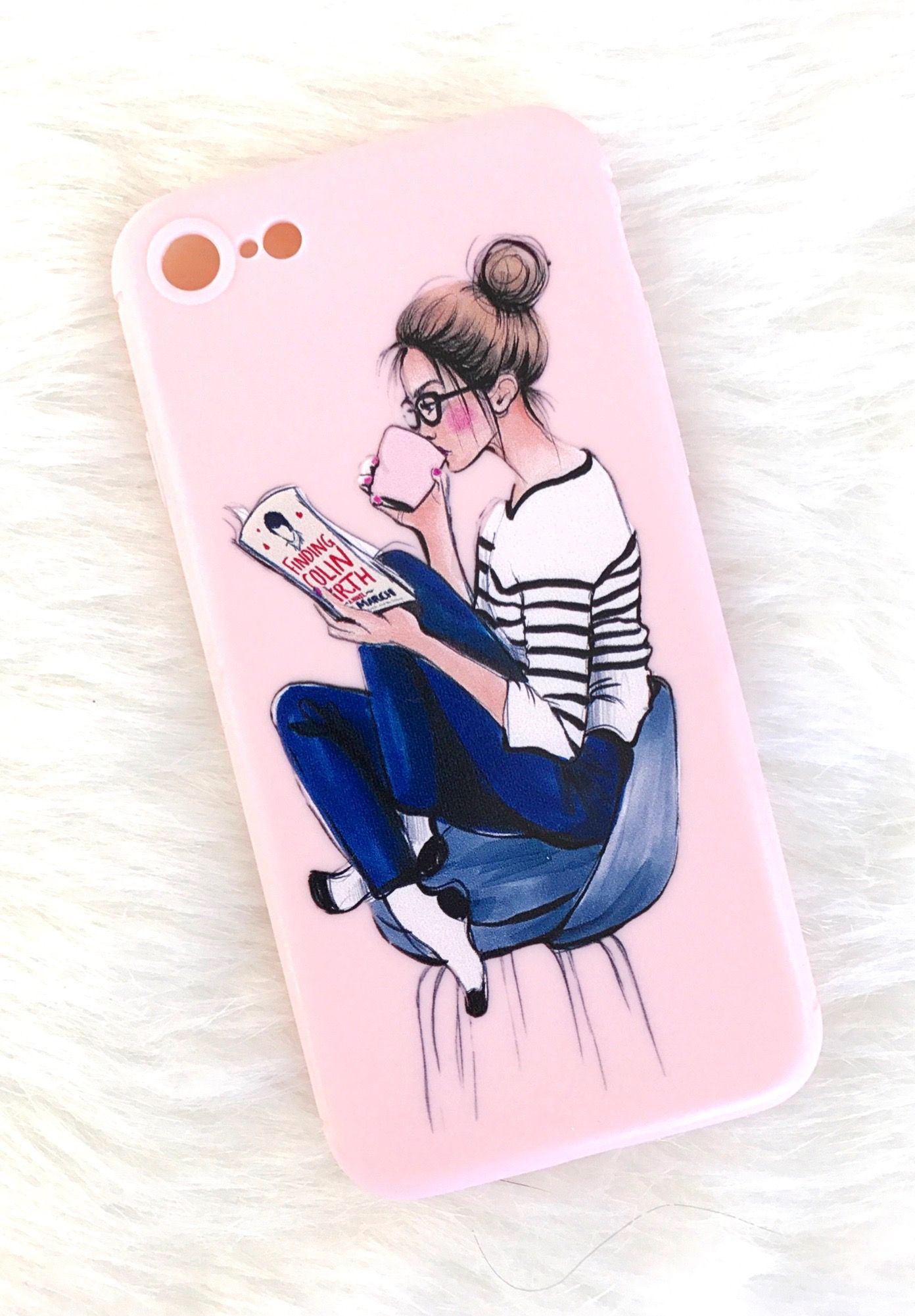 pretty nice eca0d 2003f iPhone 8 Plus Case, Literary Gifts, Clear iPhone 8 Case, Girly ...