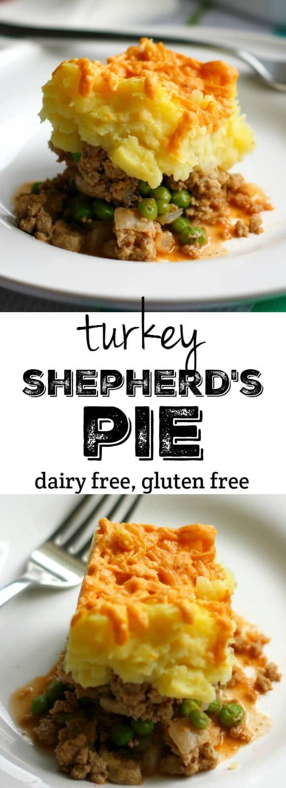 Turkey Shepherd's Pie   Recipe   Dairy free dinner, Food ...