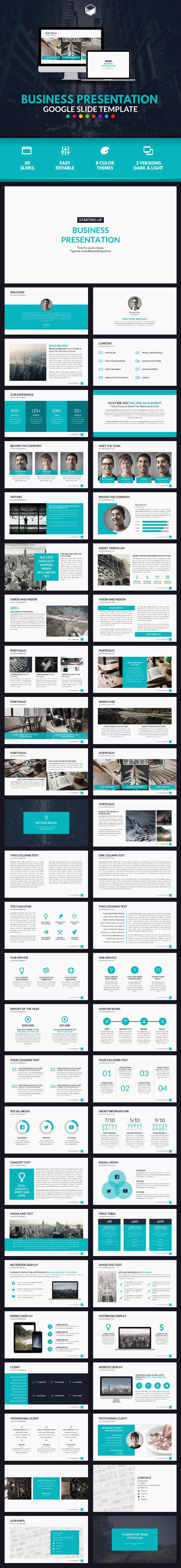 Business Presentation Google Slides Template #design Download: http ...