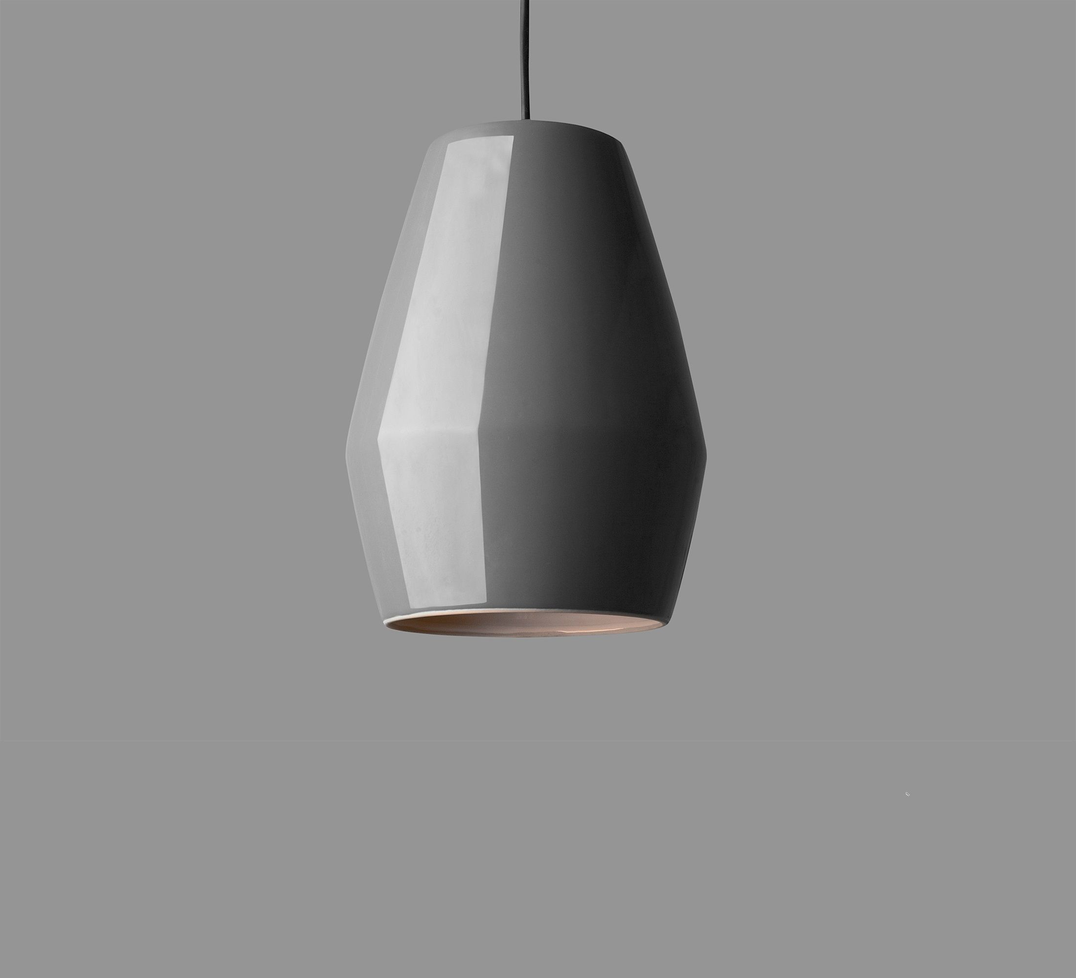 Suspension Bell gris H28cm Northern Lighting