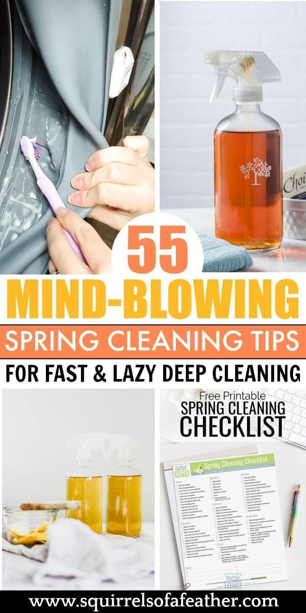 LOVED these epic spring cleaning tips and cleaning hacks! Everything I needed to DIY home cleaning myself for spring. The decluttering and organization tips were helpful too. I like to clean the lazy way, in 30 minutes or less. :) #cleaningtips #cleaninghacks #springcleaning