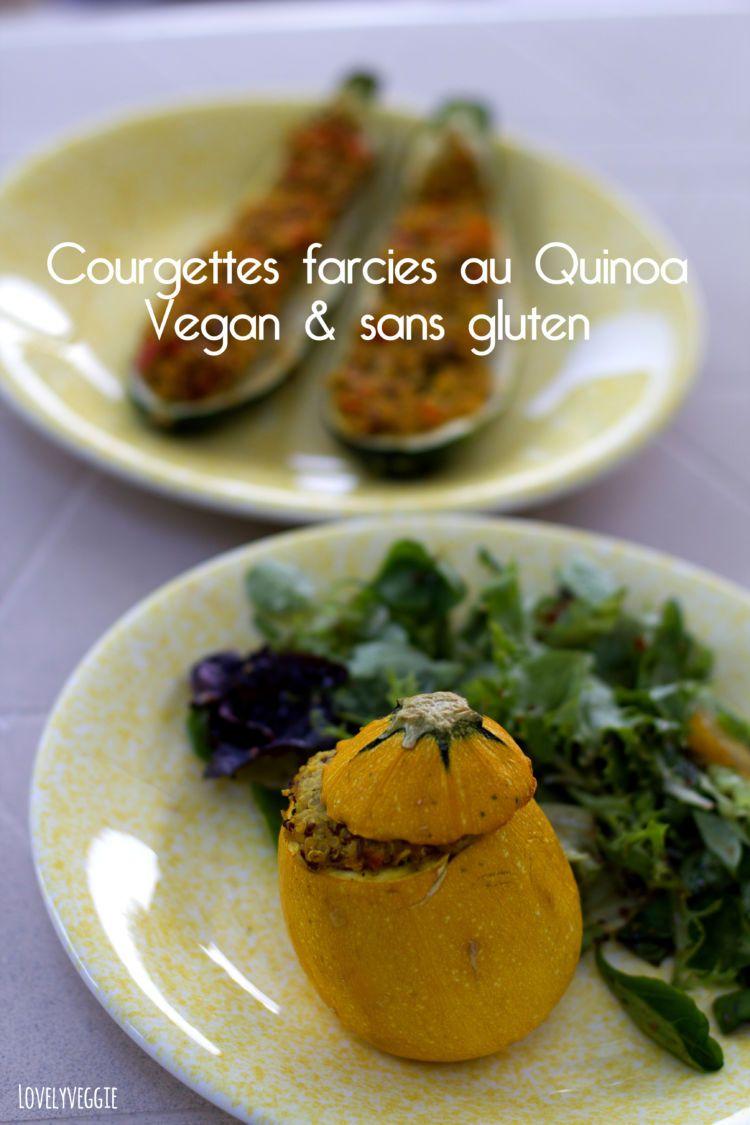 Courgettes farcies au Quinoa | Recette | Courgette, Idée ...
