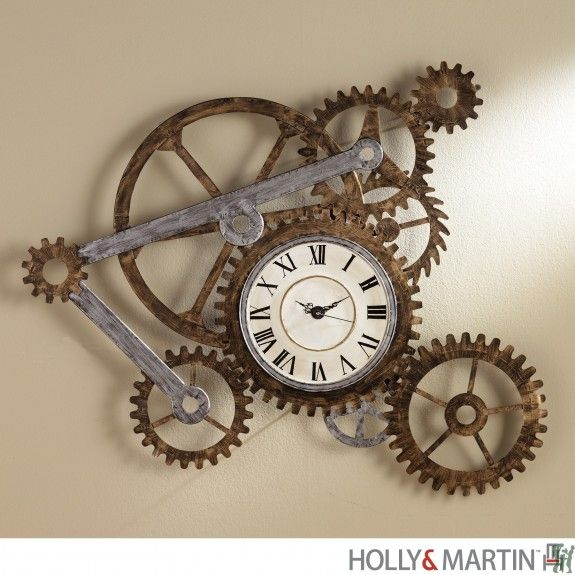 93-263-057-6-22 Holly & Martin Zion Wall Art with Clock
