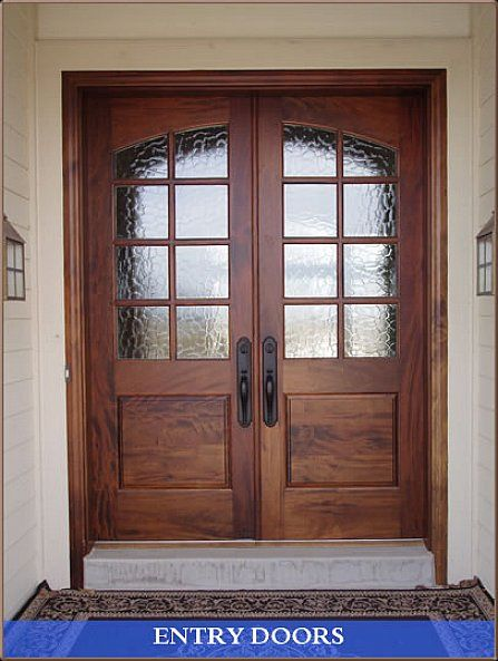 Double front entry doors google search entryway for Exterior wooden door designs