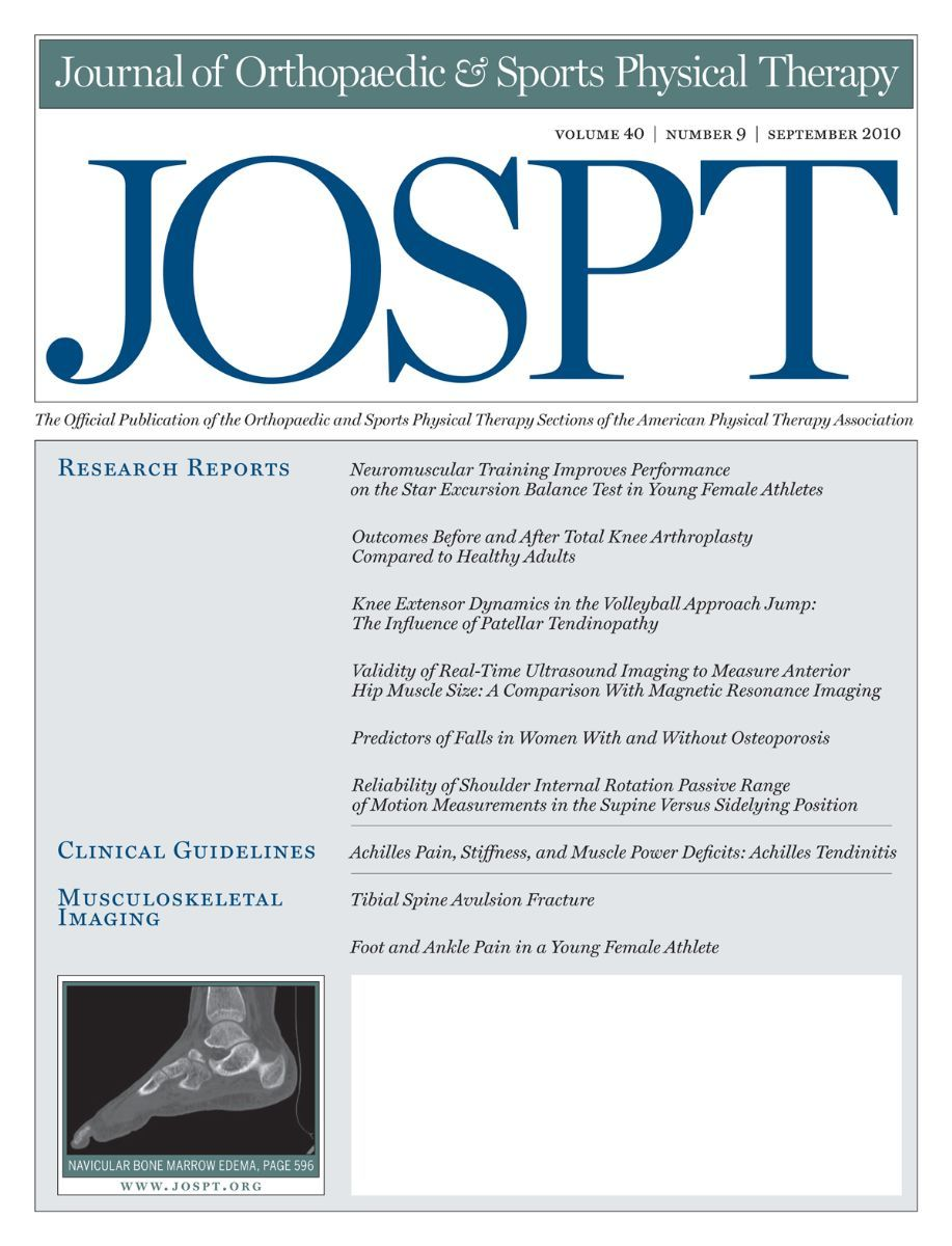 J Orthop Sports Phys Ther  Journal Of Orthopaedic And Sports