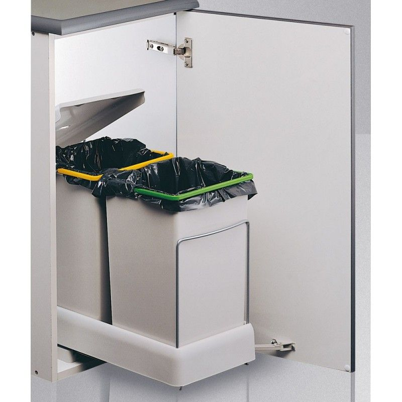 Set Cubos De Basura Automático Para Reciclaje 14 14l Menage Maison Bas
