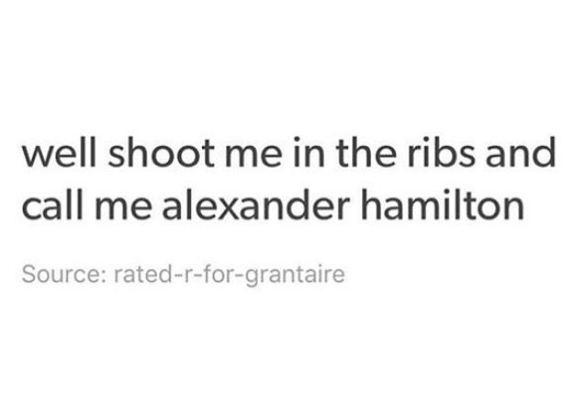 eXCUSE YOU (hamilton)