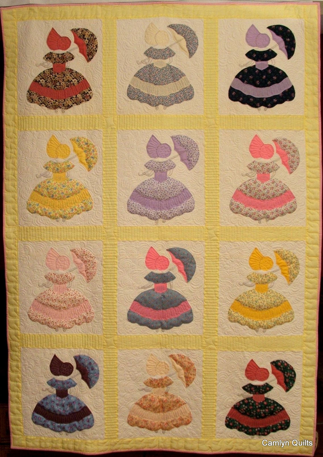 Spinning Spools quilt sewing pattern /& templates Parasol Girl ~ Quilt /& Block