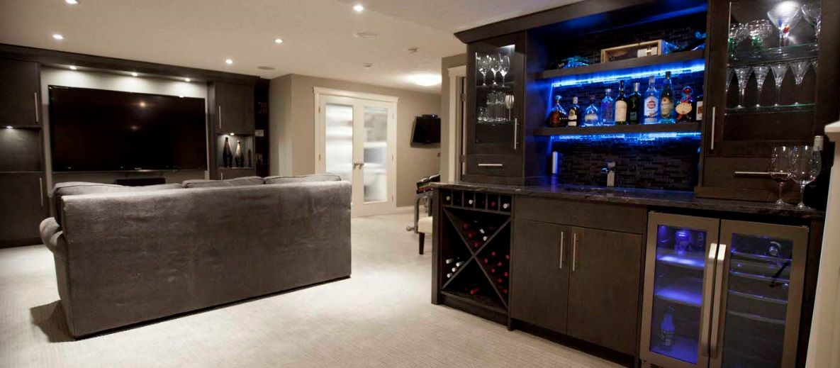 Set Against One Wall Bar Unit Bars For Home Home Theater Rooms