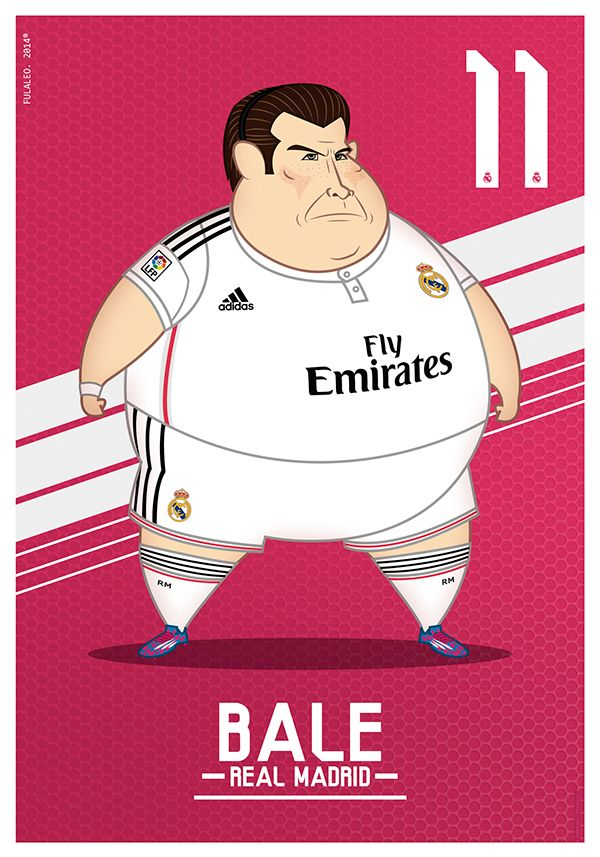 Fat Players: Real Madrid | The Five Gladiators on Behance