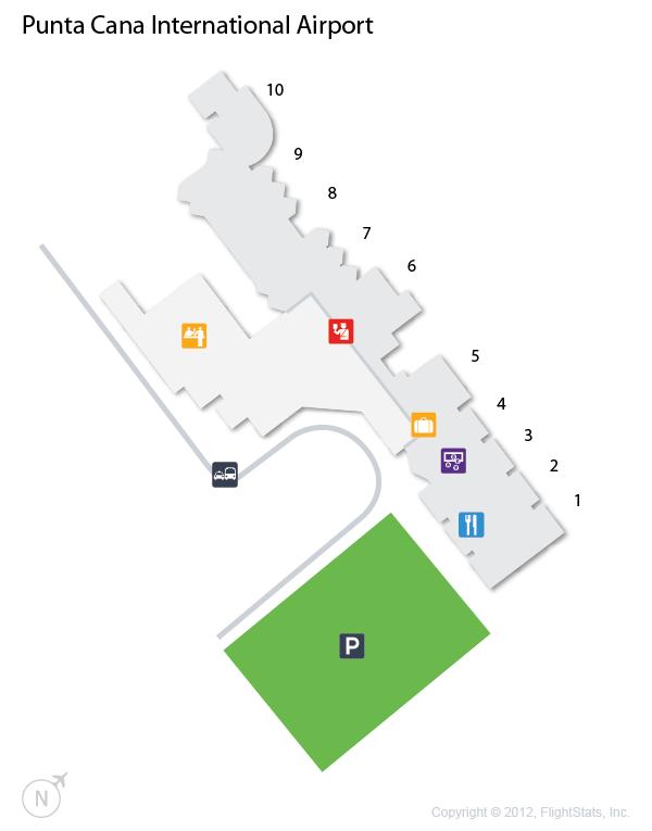 PUJ) Punta Cana International Airport Terminal Map | airports ...