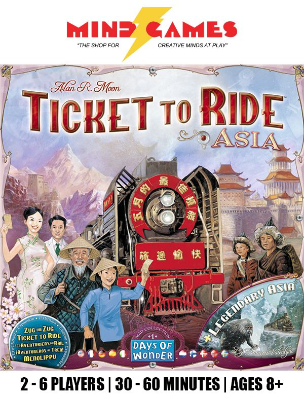 Days of Wonder Ticket To Ride by Alan R Moon Train Adventure Board Game Free US