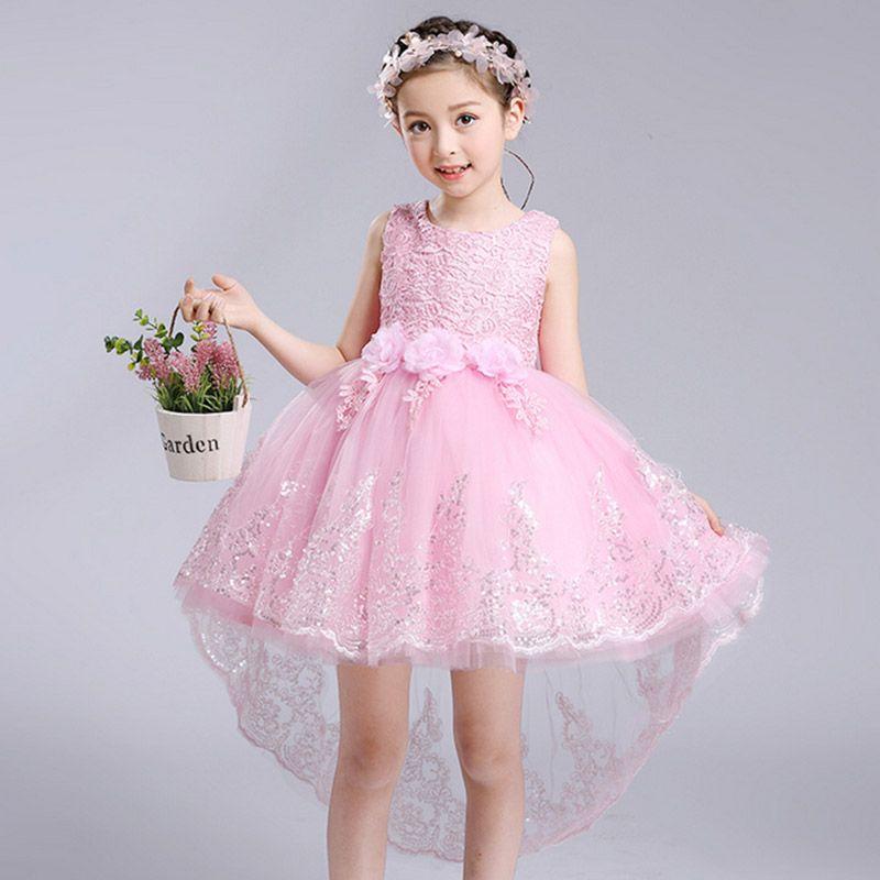 2017 summer new Girls Flower Dresses wedding dress Kids Party Wear ...