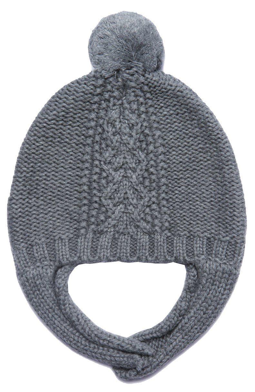 59baed3c5fc93 Angel Dear Pom knitted hat - Grey in 2018