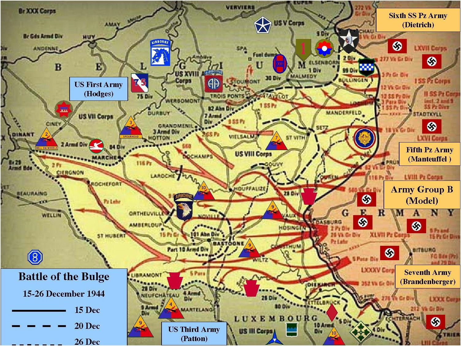 Map battle of the bulge battle of the bulge december 16 26 1944 ww2 facts map battle of the bulge battle of the bulge december 16 26 gumiabroncs Image collections