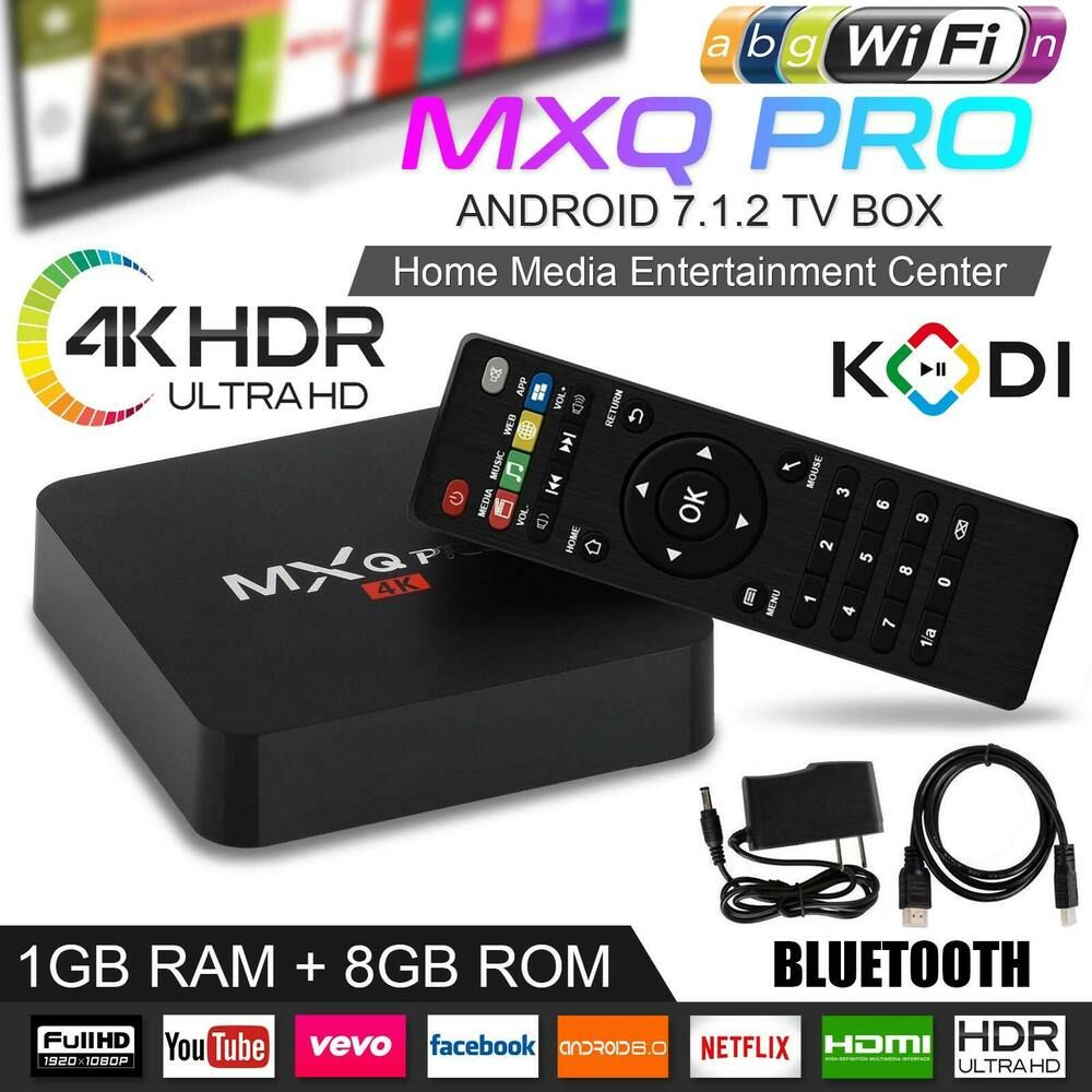 2019 Mxq Pro Android Smart Tv Box 8g Quad Core 4k Hd 2 4ghz Wifi Media Player Ikonneststore