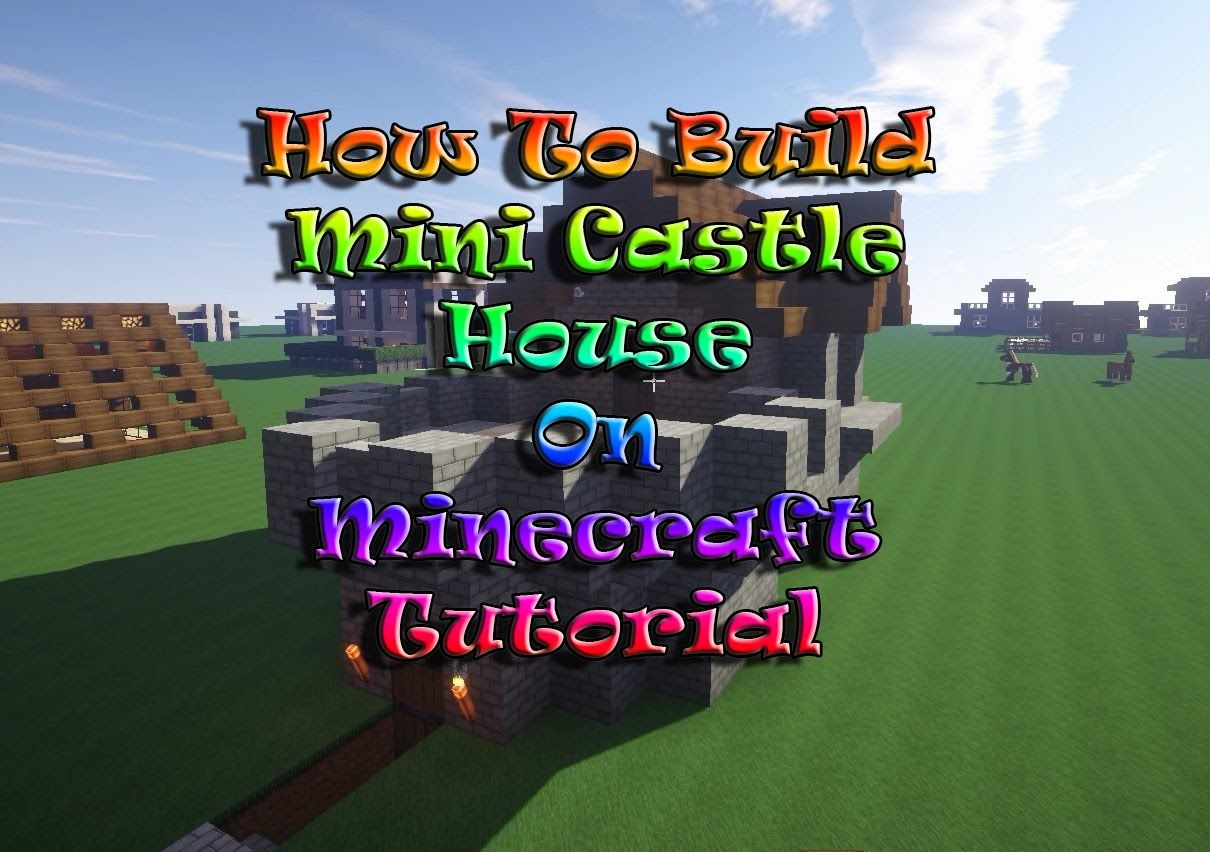 Minecraft Tutorial : How To Build Mini Castle On Survival