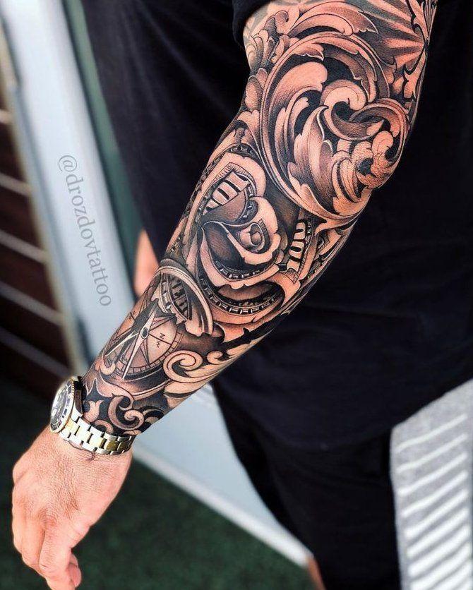 money rose tattoo stencil