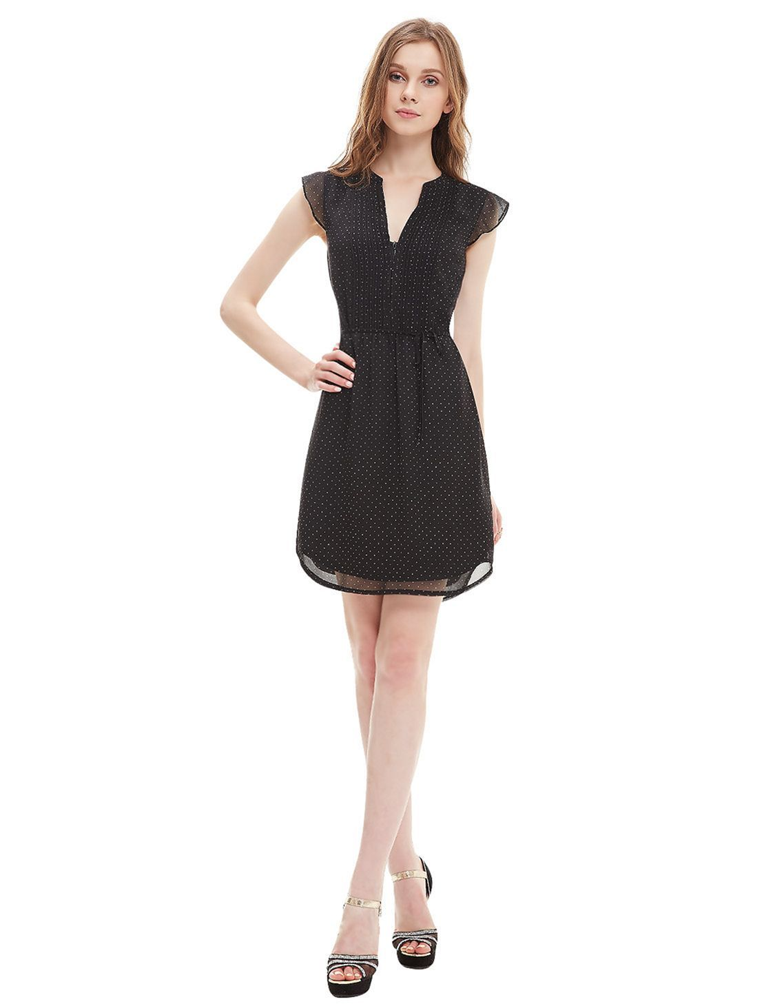 15 Gorgeous Sweetheart Neckline Summer Dresses For Bride Looks More Pretty Black Short Dress Short Cocktail Dress Black Short Sleeve Dress [ 1460 x 1125 Pixel ]