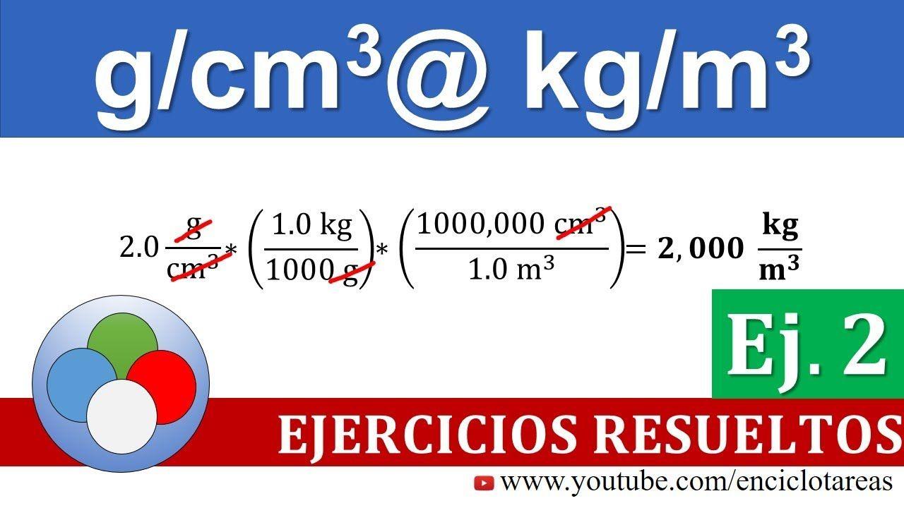 G Cm3 A Kg M3 Densidad Parte 2 Youtube En 2020 Trucos Matematicos Arquitectura Origami Unidades De Volumen