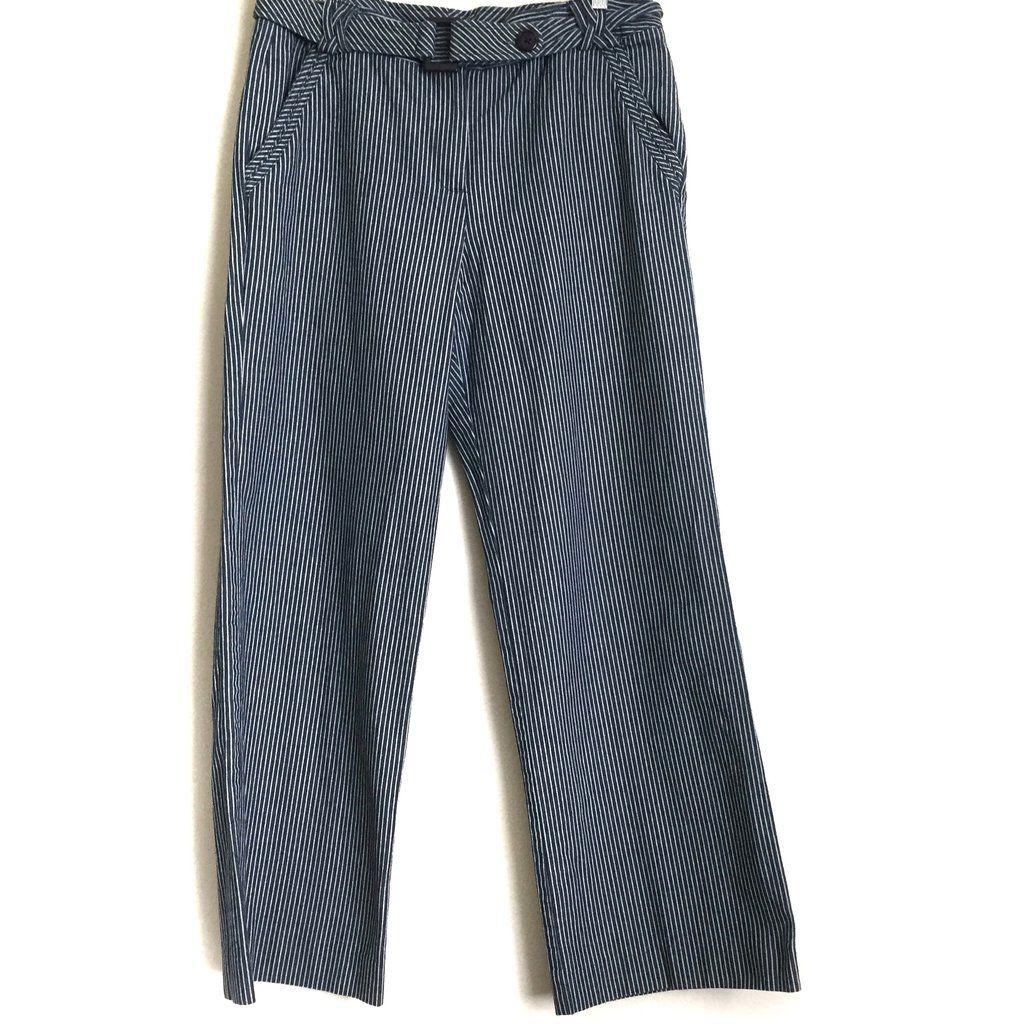 Larry Levine Pants 12 Belted 100% Cotton