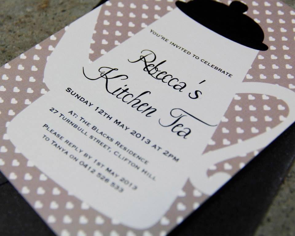 mad hatter teparty invitations pinterest%0A Tea party invitations    Time for kitchen tea