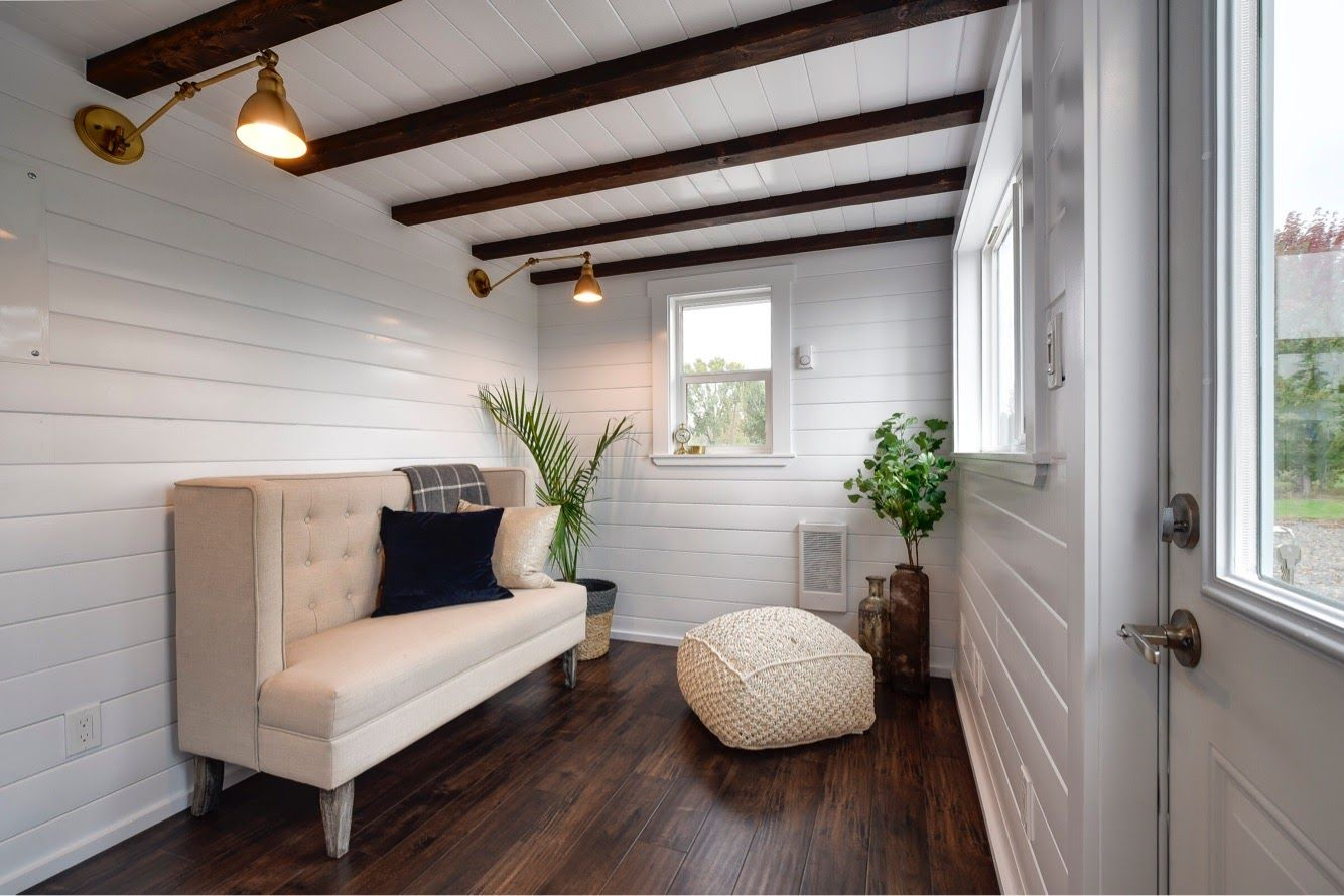 Gorgeous 34ft Tiny House On Wheels For Sale Tiny House For Sale In Marysville Washington Tiny House Living Room Tiny House On Wheels Best Tiny House