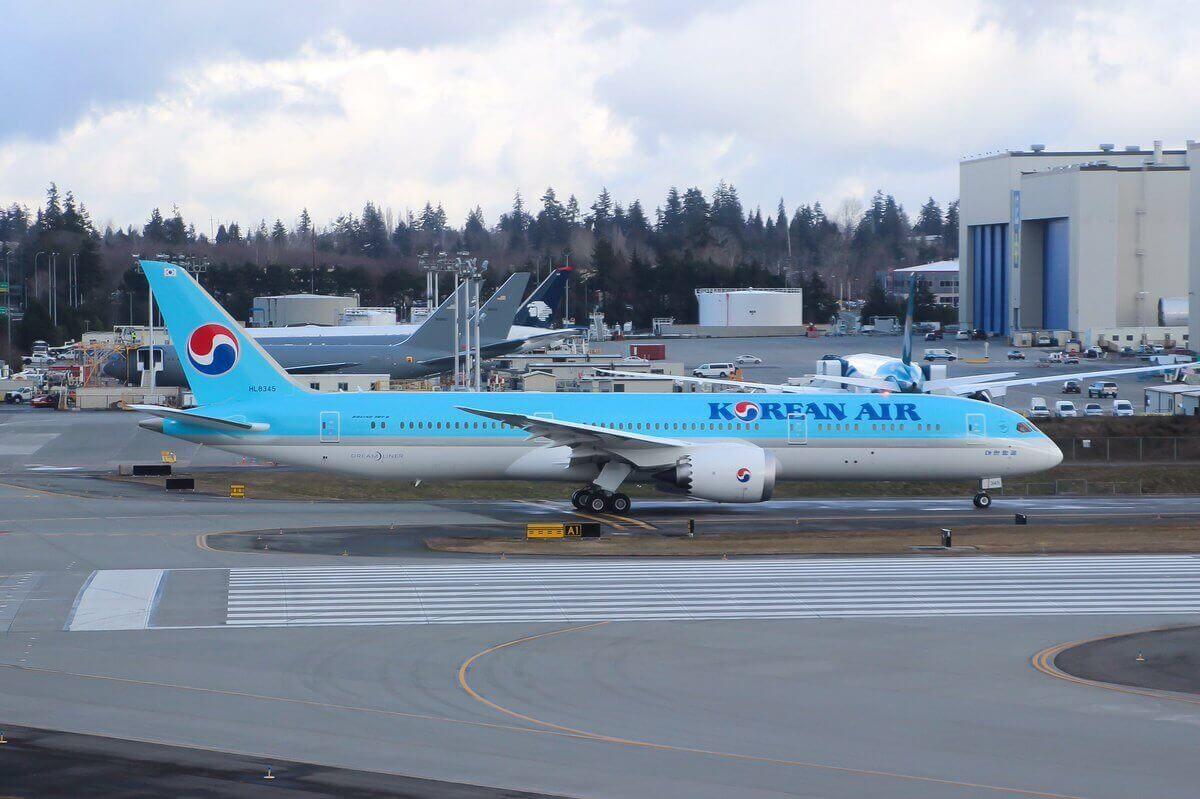 Korean Air Fleet Boeing 7879 Dreamliner Details and