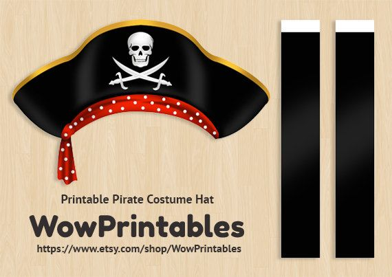 photograph regarding Printable Pirate Hats identify Pirate Dress Hat PRINTABLE Obtain Obtain von