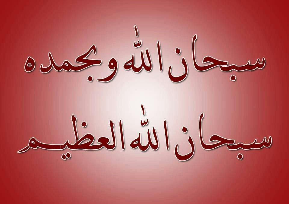 كلمتان حبيبتان الى الرحمن سبحان الله وبحمده سبحان الله العظيم Holy Quran Islam Quran