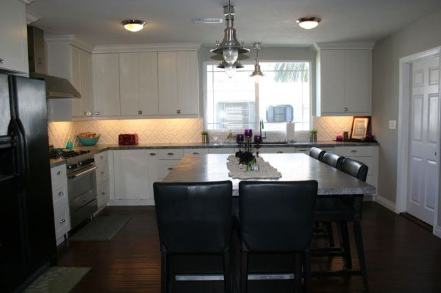 4 5 X 7 Foot Island With Seats On Two Sides Kitchen Island With