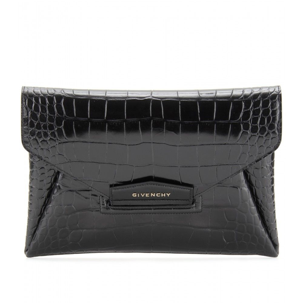Wish list: Givenchy Croco embossed leather clutch