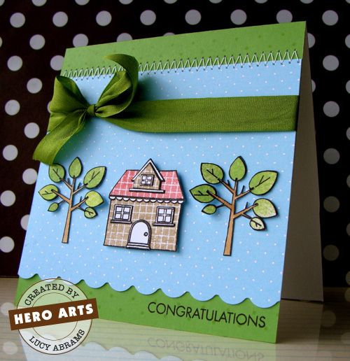 Hero Arts Cardmaking Idea: Congratulations