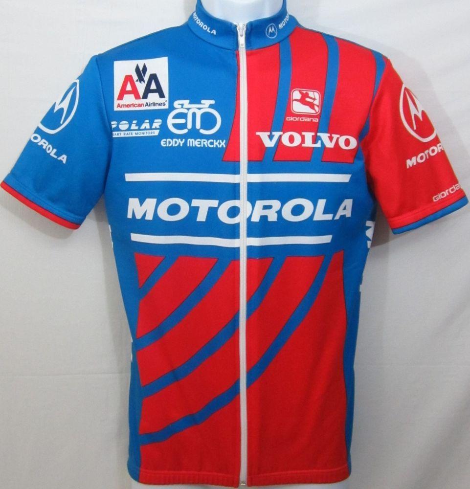 Motorola Volvo Giordana Eddy Merckx Team Cycling Jersey Full Zip Size Small   Giordana 67dba254c