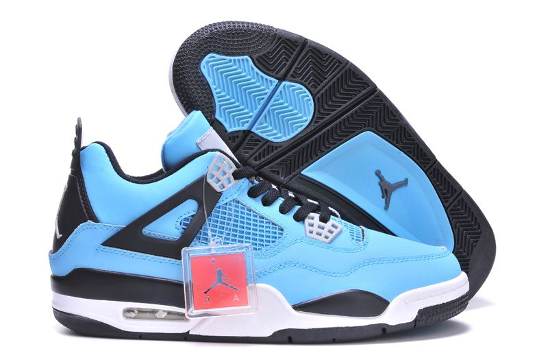 buy popular b9b3d d8e50 Air Jordan 4 Powder Blue Black White , Price   73.85 - Air Jordan Shoes, Michael  Jordan Shoes