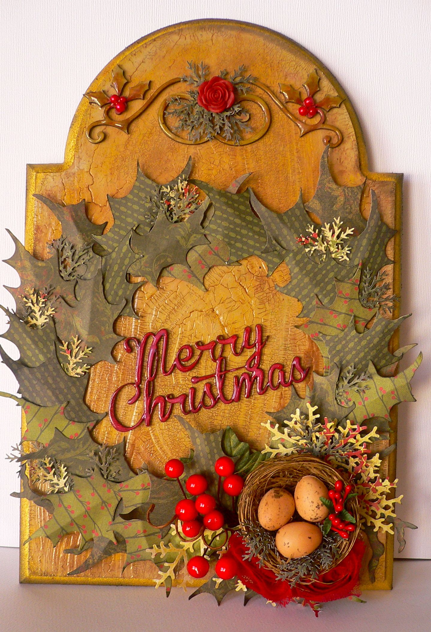 """Twig & Berry Christmas Plaque"""