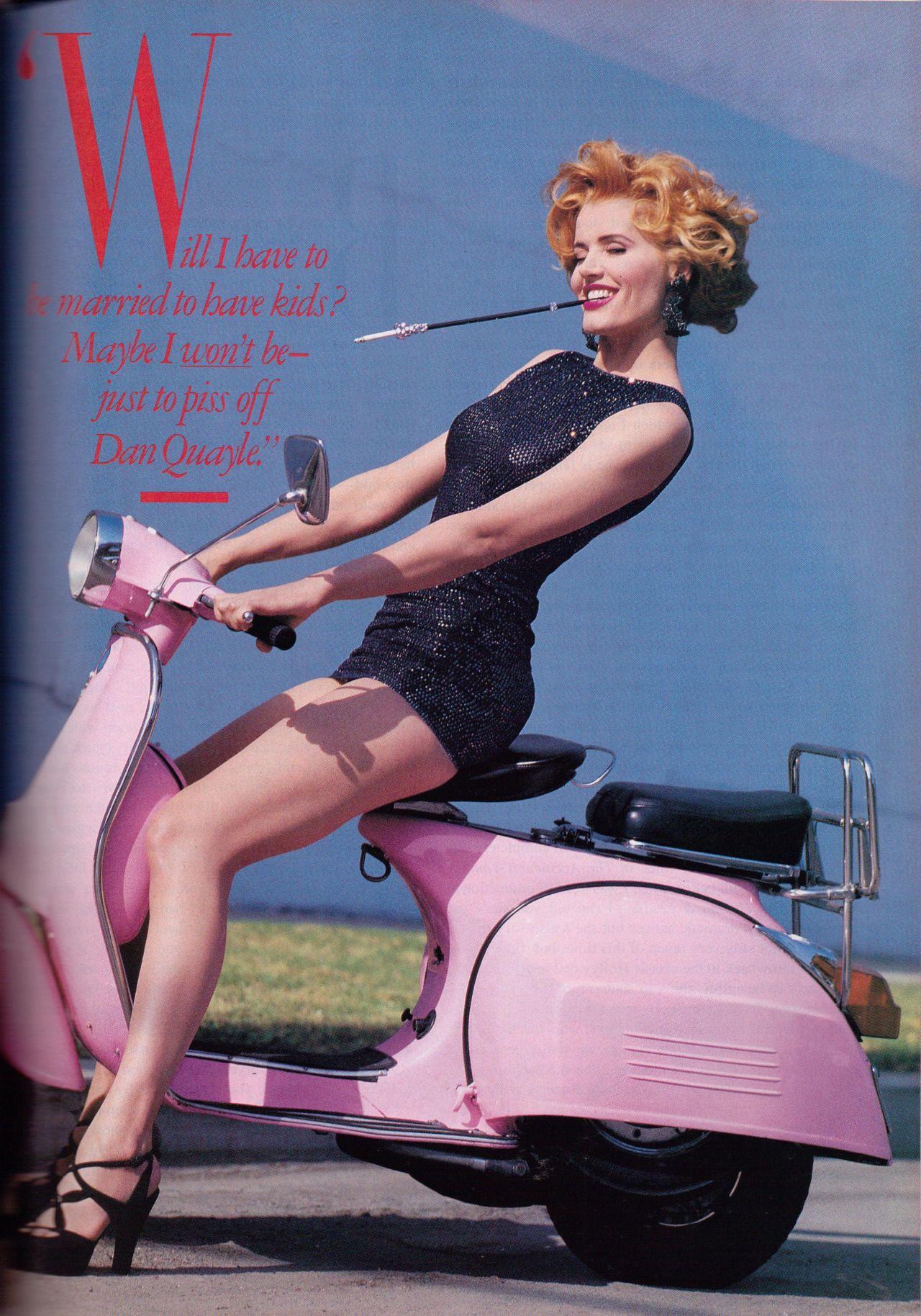 Geena Davis Cameltoe inside lyla's magazine scans | sheand a vespa | pinterest | geena davis