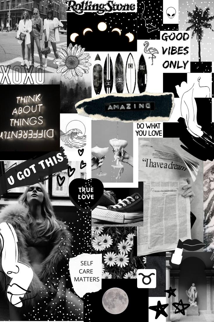 Black Collage Wallpaper : black, collage, wallpaper, Black, White, Wallpaper, Picture, Wall,, Aesthetic, Photography,