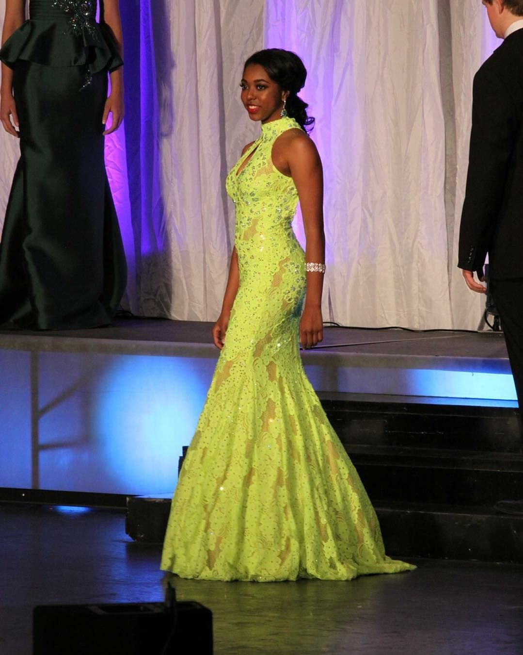 Another beautiful client Kyra Callens in evening gown competition at ...