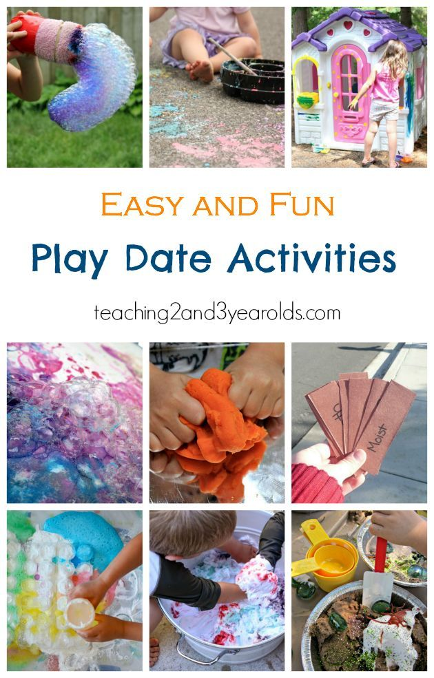 Fun Play Date Activities For Preschoolers From Teaching 2 And 3 Year Olds Date Activities Playdate Activities Activities For Kids