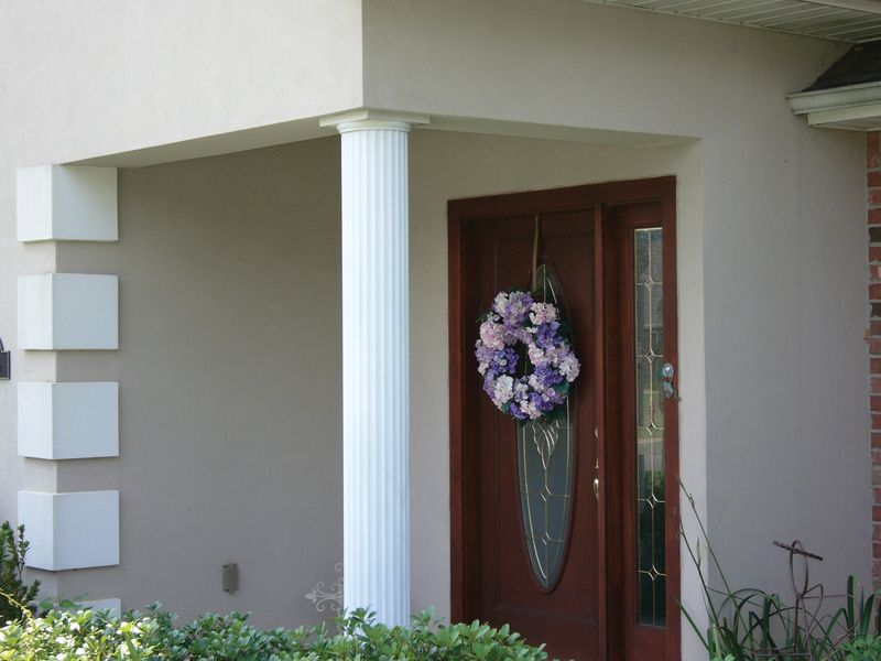 DSI Columns® Round Fluted Aluminum Columns coated in a state-of-the-art powder coating