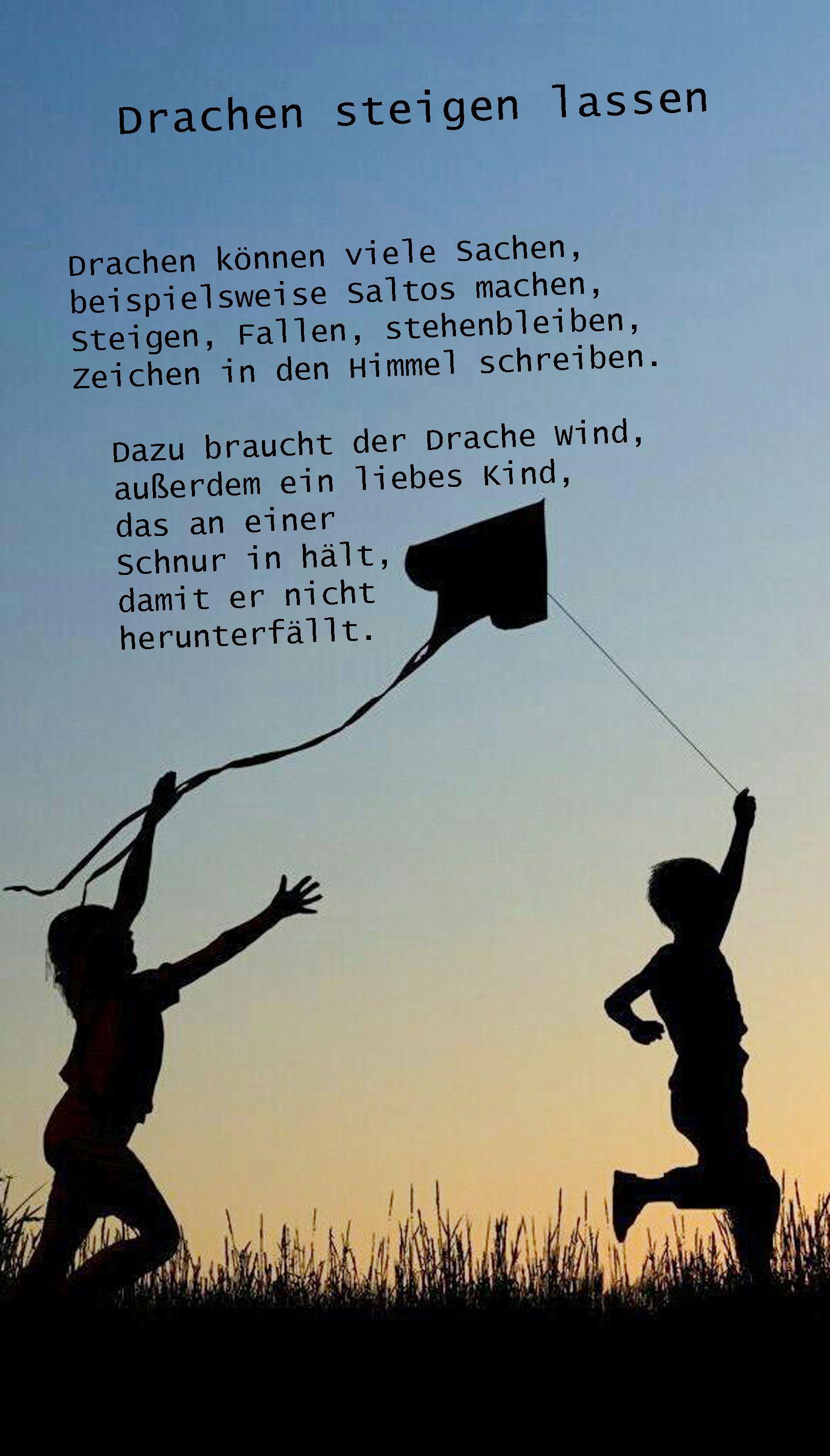 Gedicht Drache Herbst Gedichte Pinterest Gedicht Herbst
