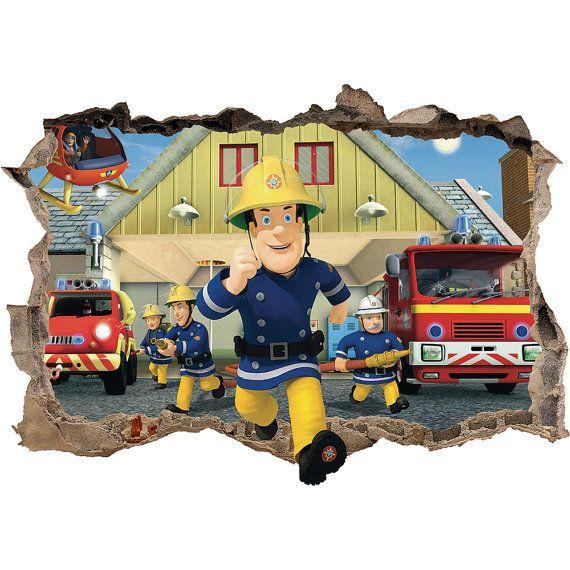 Auf Verkauf Feuerwehrmann Sam 3d Wand Von Supertopwalldecals